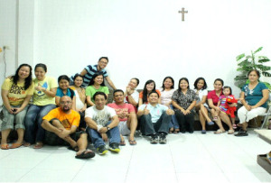 Alumni with some other filipino expats in Indonesia